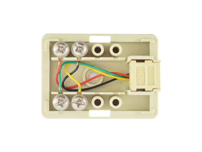1 Way RJ11 6p4c Rosette Box - Senith Electronics