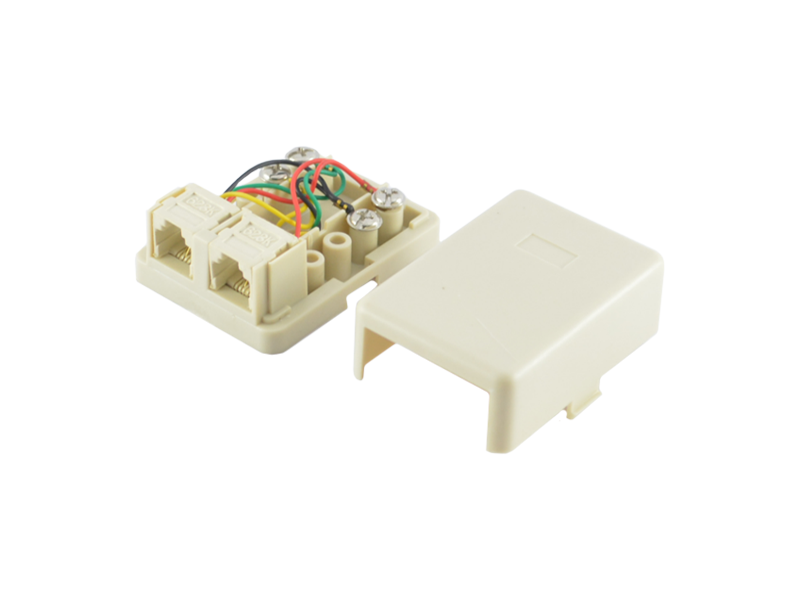2 Way RJ11 6p4c Rosette Box - Senith Electronics